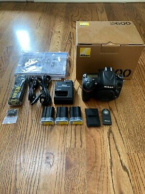 Nikon D D600 24.3MP Digital SLR Camera - Black (Body Only)