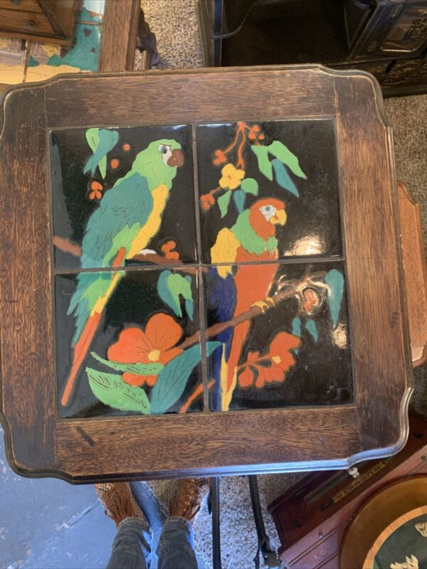 Monterey Tile top Table Parrots