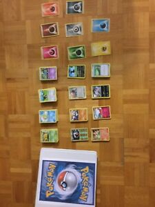 Cartes Pokémon avec cartable inclus
