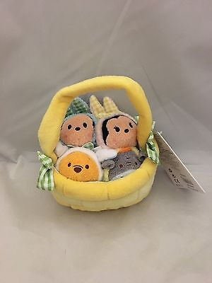 NWT US Disney Store Easter Basket Minnie Mickey Set of 4 Mini Tsum Tsum