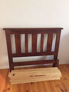 Sturdy Wooden King Single Bedframe and mattress in excellent condition Taringa Brisbane South West Preview