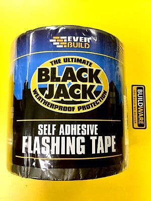Everbuild Black Jack Flashing Tape Weatherproof Protect 10MTR Roll Self Adhesive