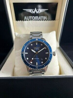 Automatik —Brand NEW Mens Blue Dive Watch 42mm Automatic NH35 Sapphire Crystal