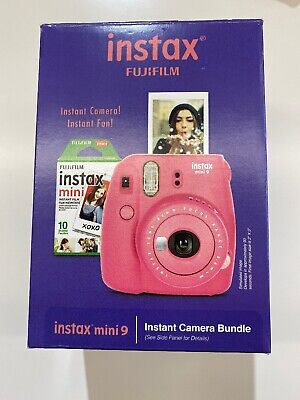 Fujifilm Instax Mini 9 - Flamingo Pink - Instant Camera Bundle