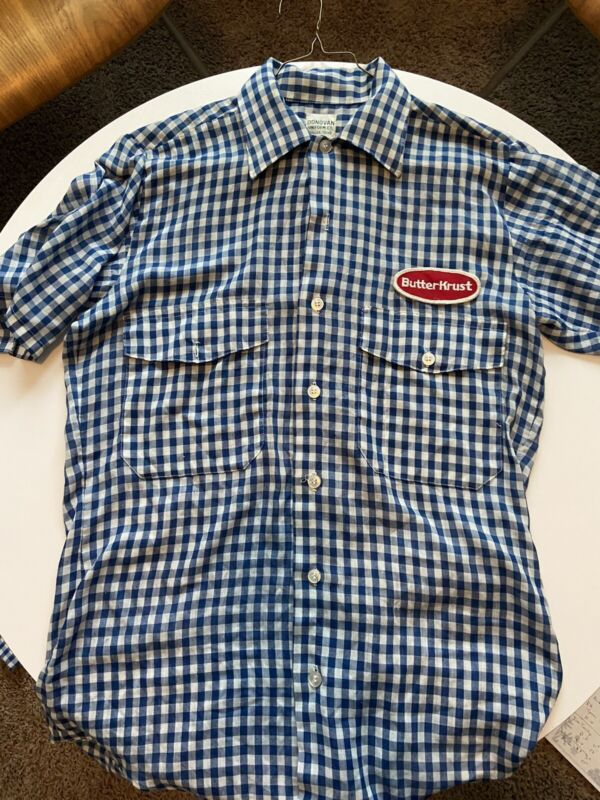 (2) ButterKrust Bread Shirts Vintage Donovan Uniform Advertising Lot