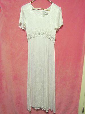 Jody California White Lace Wedding Bridesmaid Halloween Bride Costume Dress Sz 9