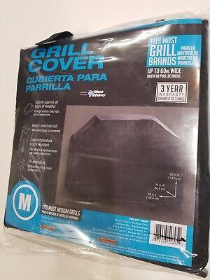 Grill cover medium Blue Rhino 60-in L x 45-in H x 20- in W Black universal cover ()