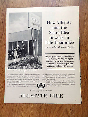 1963 Allstate Life Insurance Ad How Sears Idea To Work