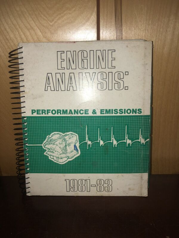 1981-1983 Nissan Datsun Technical Engine Analysis OEM Factory Service Guide