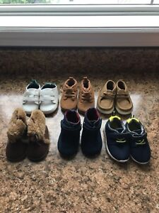 Brand new 6 pairs of baby boy shoes