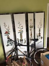 Oriental Antique Carved fold-able screen - BARGAIN PRICE! Lane Cove North Lane Cove Area Preview
