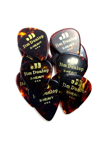 Jim Dunlop 483P Celluloid Guitar Pick 12 Pack Extra Heavy White