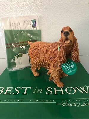 Best In Show Country Artist Cocker Spaniel Golden Hand Painted New In (Best In Show Cocker Spaniel)
