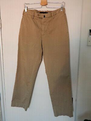 Mens Beige Incotex Chino Cotton Trousers Size 48 Excellent Condition Slowear