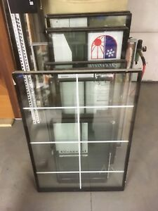 12 various sized glass window inserts
