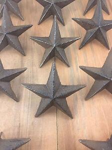 Cast Iron Nail Stars Set of 6 Craft Western Decor Texas Lone Star 3-1/2