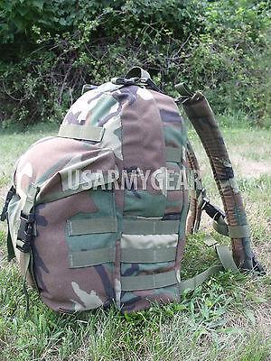 Molle II Patrol Backpack US Army Military Woodland 3 Days Bag Field Gear USGI ()