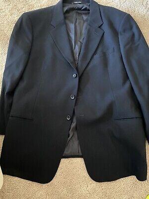 Armani Collezioni Mens 100% Blue Blazer Jacket Sport Coat 3 Button  48 R