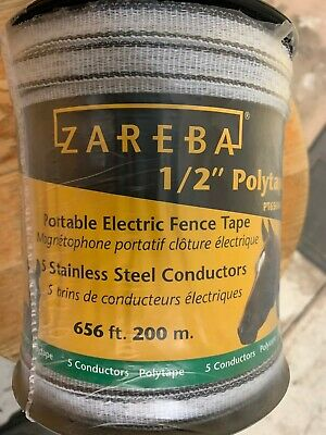 Zareba Electric Fence - Pt656wh-z 12-inch 200m Polytape