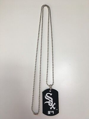 CHICAGO WHITE SOX MLB SPORTAGZ FLEXIBLE DOG TAG NECKLACE FOREVER COLLECTIBLES