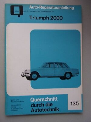 Auto-Reparaturanleitung mit Maß- Einstelltabelle Nr. 135 Triumph 2000