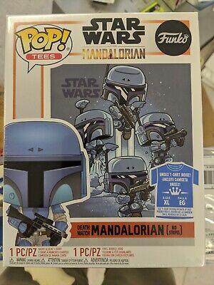 "Funko Pop! The Mandalorian #361 ""Death Watch"" No Stripes - With T-shirt Size XL"