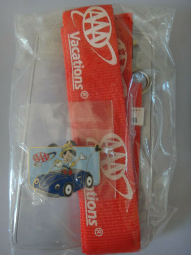 Disney AAA Vacations Red Lanyard with Pinocchio Car Pin 2003 Limited Edition NEW