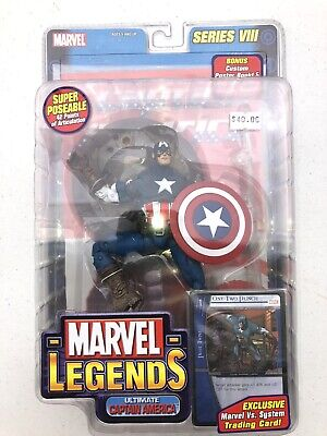 Brand New Marvel Legends Series VIII 8 Ultimate Captain America with VS Card