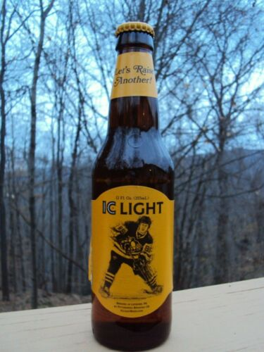 2019 PITTSBURGH PENGUINS  IC LIGHT BEER 12oz Bottle / IRON CITY PBC/ PITTSBURGH