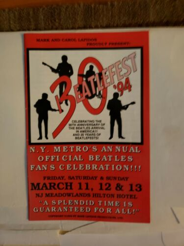 BeatleFest 1994 Program Guide NJ Meadowlands Hilton