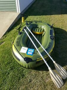 Inflatable dinghy.