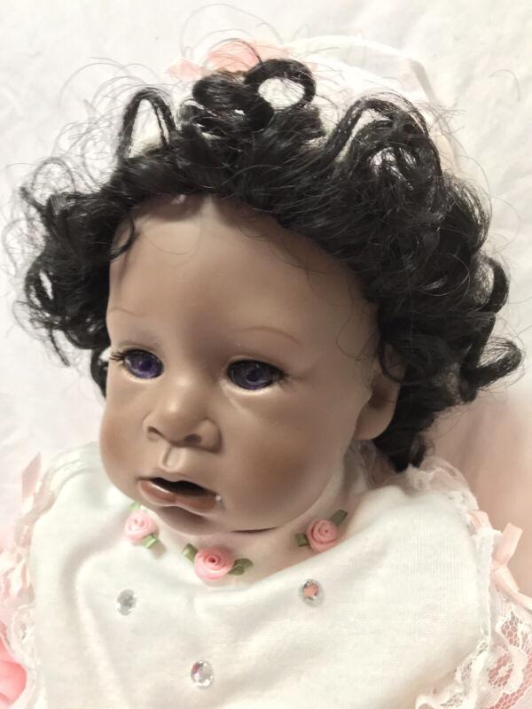 Good-Kruger Dolls Snuggle Ebony with Purple Eyes