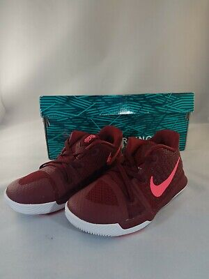 Nike Kyrie 3 TD 869984-681 Toddler Baby Shoes Team Red Hot Punch sz 8c