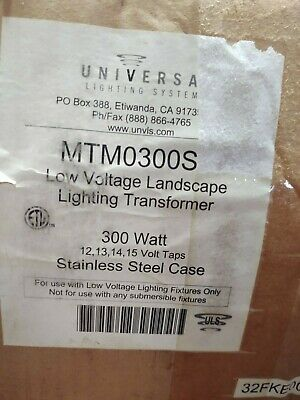 Universal Lighting Mtm0300s Low Voltage Landscaping Lighting Transformer 300w