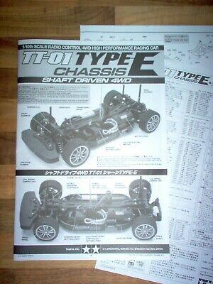 Manual 1:10 RC / Tamiya TT-01 Chassis Type E / Plan - Instruction - Book / Neuf