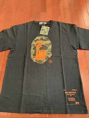 A BATHING APE X Undefeated Size XL Black T-shirt