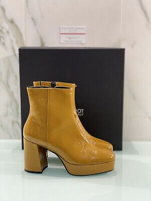 Ankle Boot Jeannot Woman Pelak Mustard with Heel Made in Italy 37