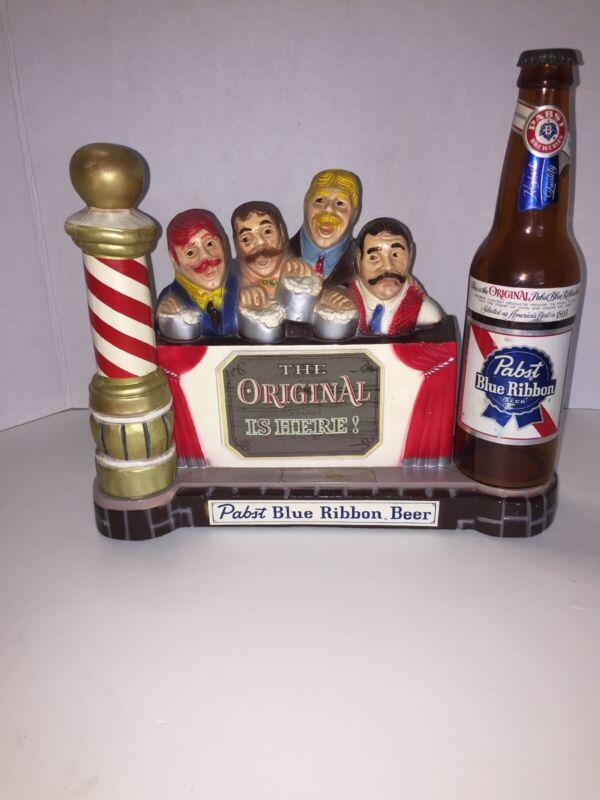 🍺 Vintage Pabst Blue Ribbon Beer 🍺 Barber Shop Quartet Singers Store Display