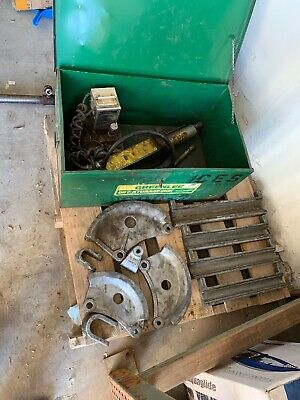 Greenlee 882 Flip-top Bender For 1-14 - 2 Emt With 915 Hydraulic Power Unit