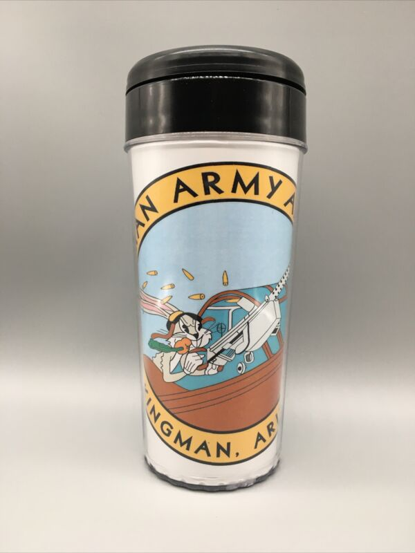Kingman Arizona Army Air Field Commemorative Travel Tumbler Mug Apx 16oz