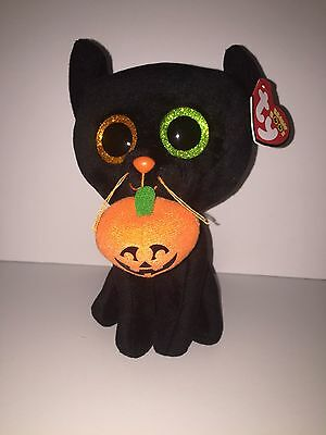 """TY SHADOW BLACK CAT 6"""" BEANIE BOOS-NEW, MINT TAG **SUPER CUTE**IN HAND**SHIP NOW"""