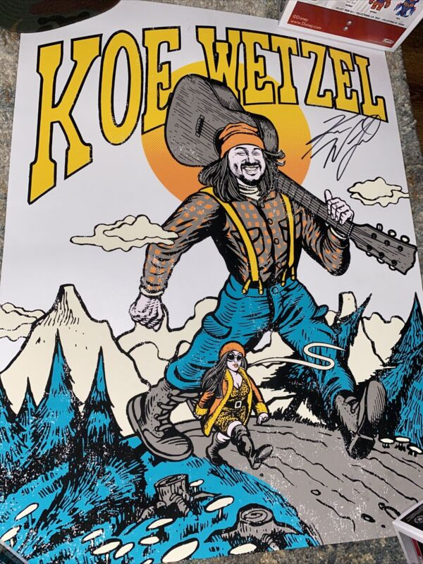Koe Wetzel Autographed Concert Poster Limited   14W x 24L
