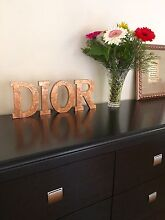 $30each letter DIOR monogram 18cm tall handmade in COPPER leaf Balcatta Stirling Area Preview