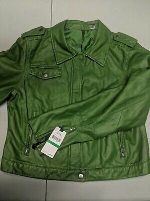Faux leather jacket women large for sale  Shipping to India