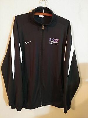 LSU Lady Tigers Nike Dri Fit Jacket Large Basketball