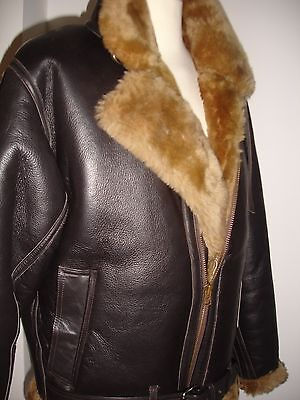 Men's Real Sheepskin pilot (Aviator) jacket, Hand made, make to measure only  for sale  Shipping to Ireland
