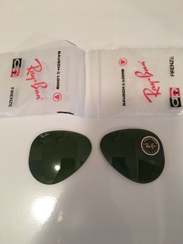 Vintage Ray Ban Bausch Lomb RB3 Green Replacement Lenses NOS 58mm