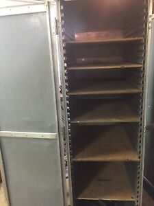 Aluminum airline food tray carts