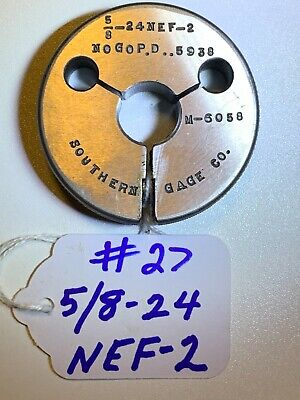 Southerland-thread Ring Gage-  58-24 Nef-2  No Go Pd .5938