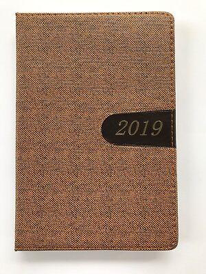 2019 Planner Calendar Tabbed Student Agenda Appointment Book Journal Beige 5x8
